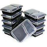 Green Direct Lunch Box Sets/Large Food Container with Lid / 2 Compartment Bento Box, Microwaveable, Freezer & Dishwasher…