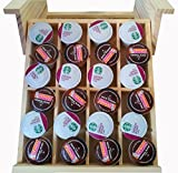 Under Cabinet Shelf Kitchen Storage Spice Rack K-Cup mounted adjustable hardwood organizer, by Axis