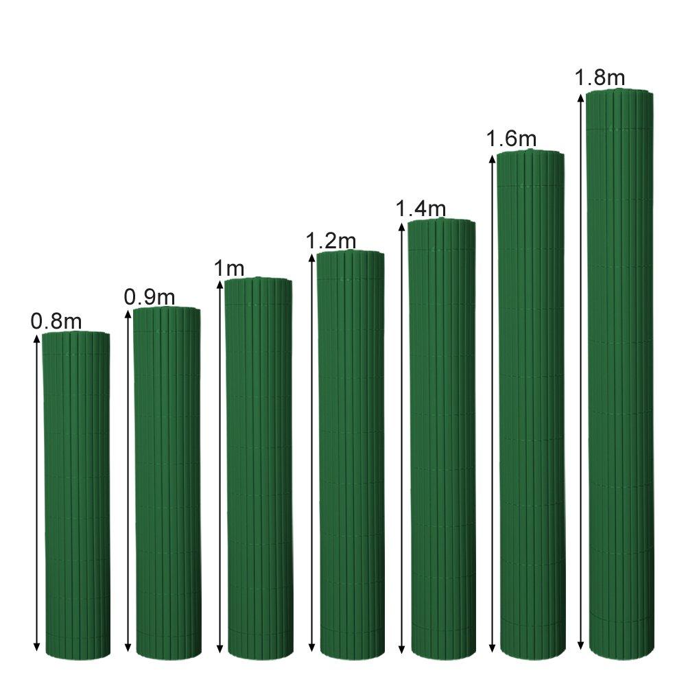 bamb/ù Hengda/® Frangivista Canniccio PVC Paravento privacy Frangivento Recinzione giardino per giardino, balcone e terrazza(140X500cm