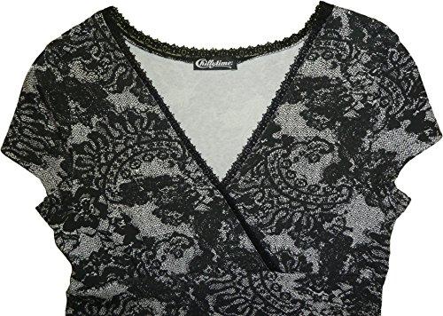 Chillytime Damen T-Shirt-Kleid // 488995 // schwarz + weiß (32)