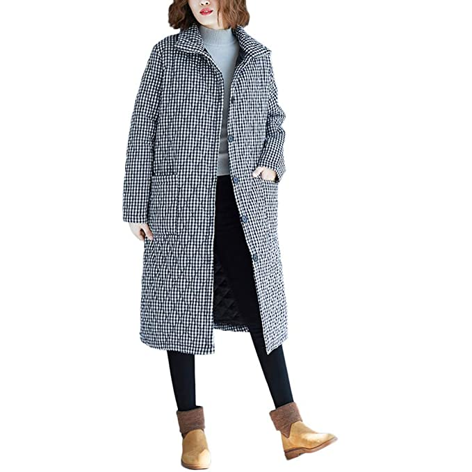 Beikoard_Abrigos de mujer,Abrigo de otoño e Invierno para Mujer La Moda Temperamento Mantener Caliente