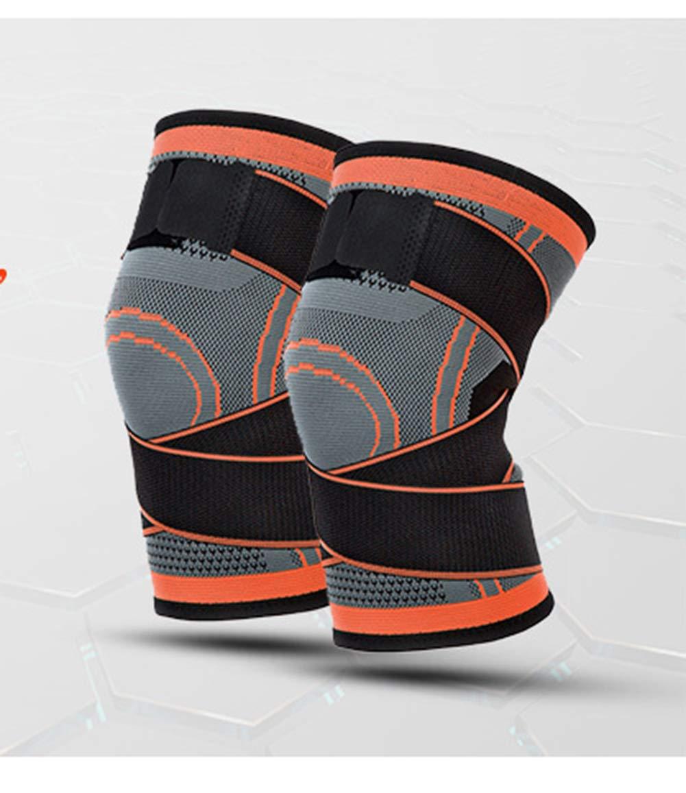 Knieunterstützung (1 Stück), Männer Und Frauen Sportbasketball Stricken Vierseitige Elastische Bandagen Knieschützer Outdoor-Klettern Fitness-Laufbekleidung,M