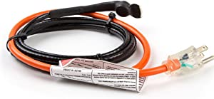 HEATIT HISD 30-feet Pipe Heating Cable with Built-in Thermostat