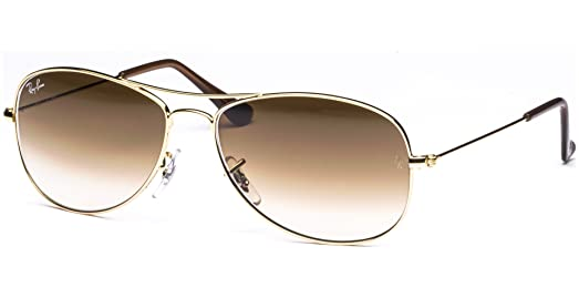 ray ban rb3362 cockpit 001/51 arista gold sunglasses