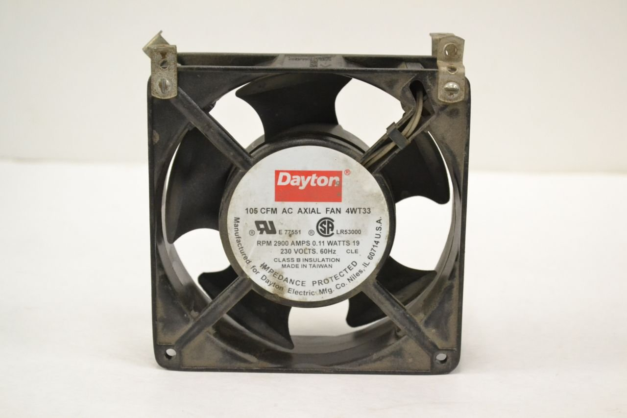NEW DAYTON 4WT33 AC AXIAL 230V-AC 105CFM COOLING FAN B292515