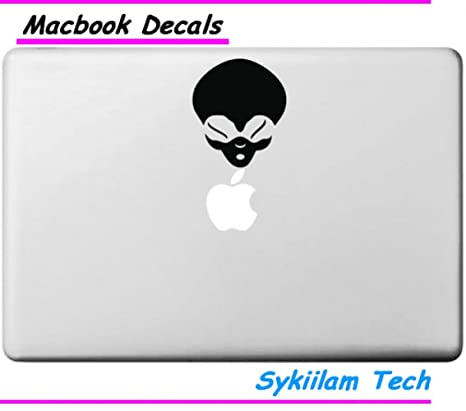 Top Alien Skin logotipo de la cabeza vinilo Et máscara para Apple piel Macbook 33,