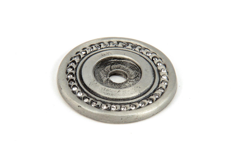 Carpe Diem Hardware 866-11C Cache Satin Escutcheon  with Swarovski Crystals