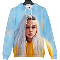 SERAPHY Unisex Trendy Singer Hoodie Women's 3D Printed Hooded Swearshirt Novelty Fan Top Pullover