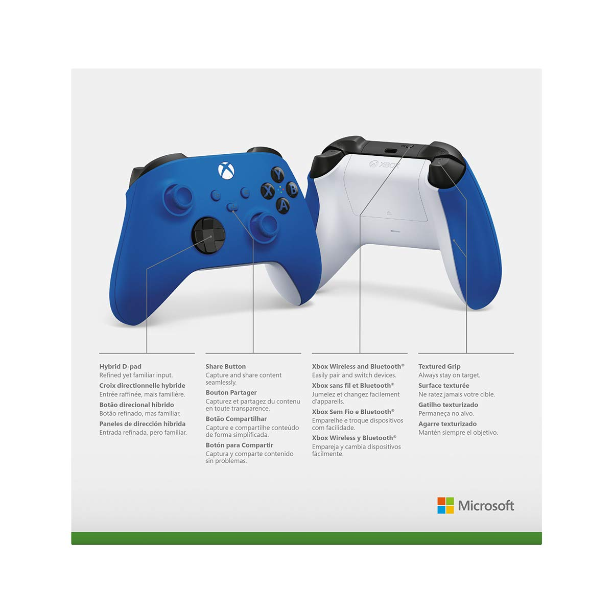 Amazon Com Xbox Wireless Controller Shock Blue Video Games