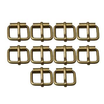rivenditore di vendita vivido e di grande stile uomo RDEXP - Set di 10 Fibbie a Rullo, in Metallo, Multiuso, per ...