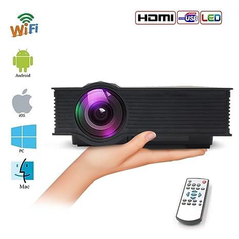 Videoprojecteur, teamyo portátil proyector casa Mini Wifi ...