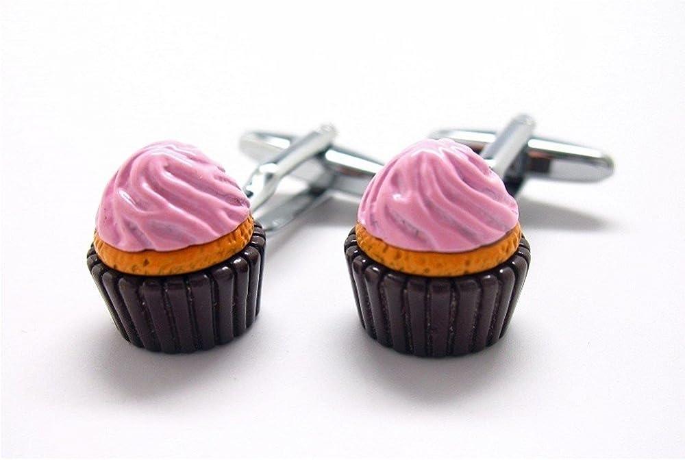 Procuffs Cupcake Cufflinks Dessert Snack Sweets + Box & Cleaner