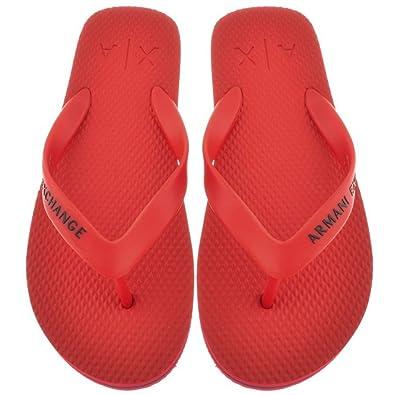 aa3b9b14c Mens Armani Exchange Flip Flops Red - 9 (43)  Amazon.co.uk  Shoes   Bags