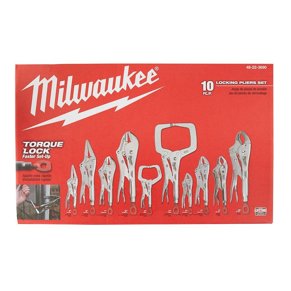 Milwaukee Torque Lock Locking Pliers Kit (10-Piece) by Milwaukee