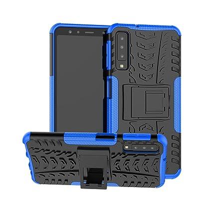 Funda para Samsung Galaxy A7 2018 A750 Carcasa Protector Antigolpes Robusta Case 360 Doble Capas a Prueba de Golpes Caída Protección Fuerte con ...