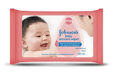 4ee60694380fa Buy Johnson's Baby Skincare Wipes (10 Cloth Wipes) Online at Low ...