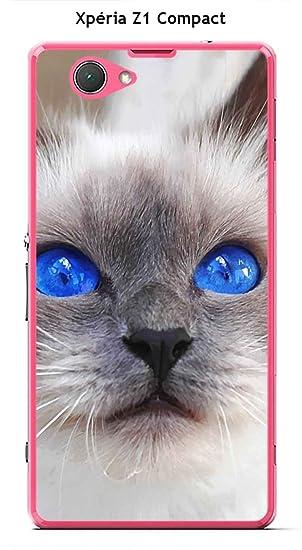 Carcasa Sony Xperia Z1 Compact Design gato siamés con ojos ...