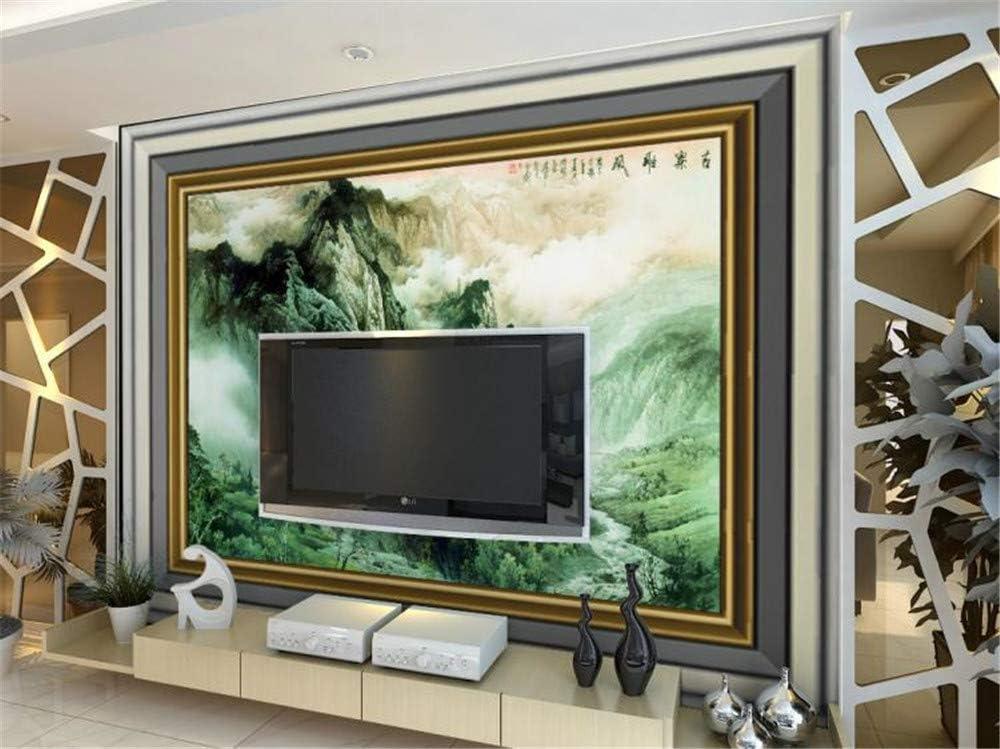 Muraon HD Mural 3D TV sofá fondo pared dormitorio sala de estar mural paño de pared sin costura Pintura china paisaje pueblo antiguo hada viento maravillas, 300x210 cm (118.1 por 82.7 in):