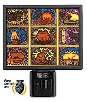 Art Plates NL-106 Mosaic Cats Night Light