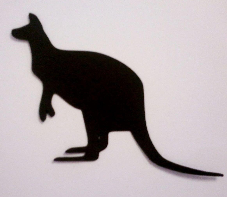10 x Kangaroo Silhouette Die Cuts Shapes Black Card RJK Crafts
