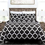 Egyptian Luxury Quatrefoil Duvet Cover Set - 3-Piece Ultra Soft Double Brushed Microfiber Printed Cover with Shams