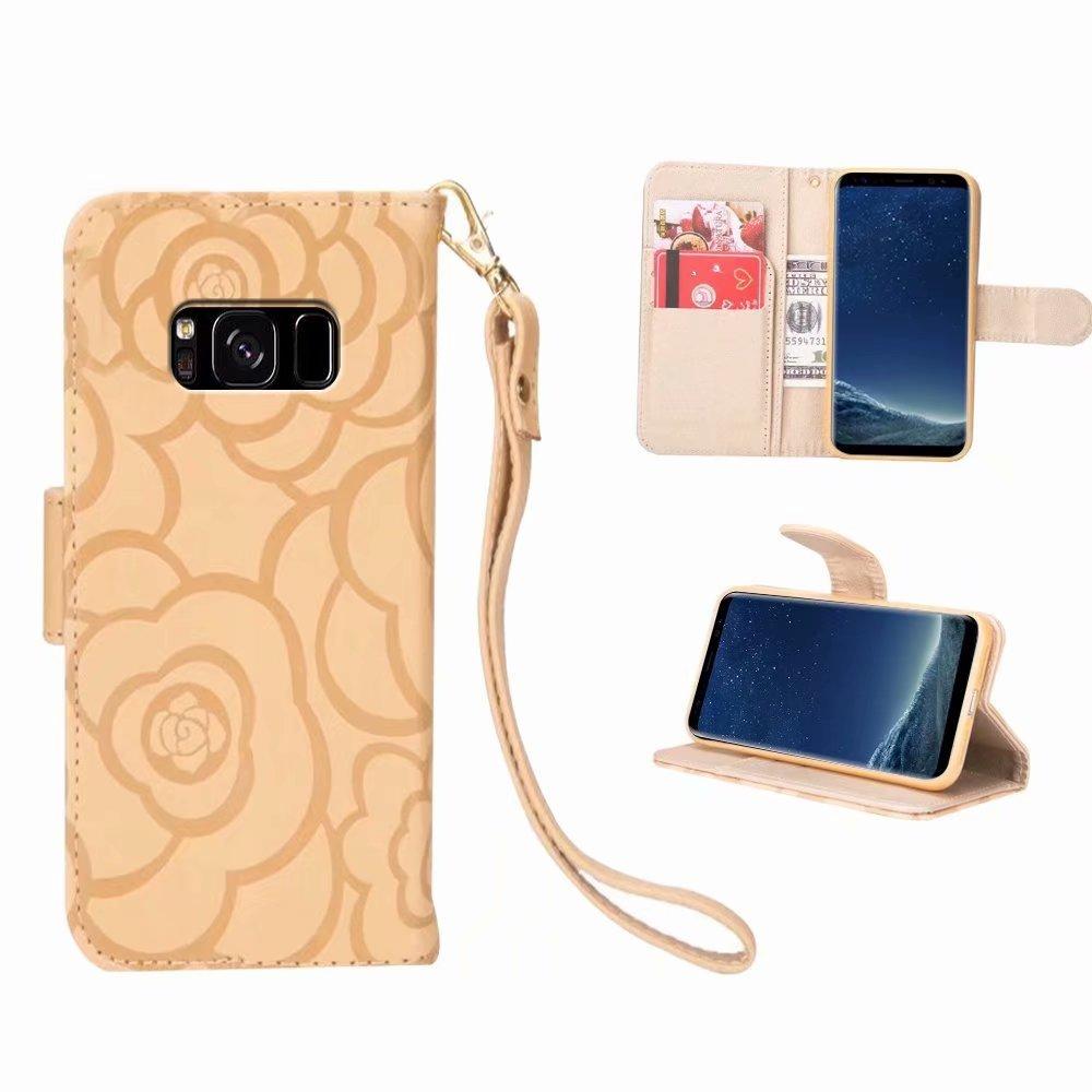 Galaxy S8 Plus Etui,MingKun Étui en Cuir PU Fonction Stand et Fente Coque pour Samsung Galaxy S8 Plus Pattern Cristal Sparkle Bumper Flip Cover