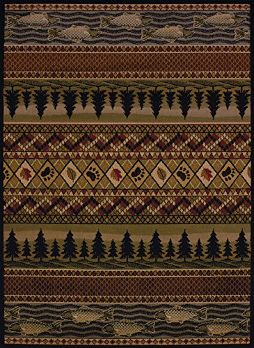 (United Weavers of America Affinity Collection River Ridge Indoor Rug - 1ft. 10in. x 3ft., Multicolor, Machine Made Rug with Jute Backing)