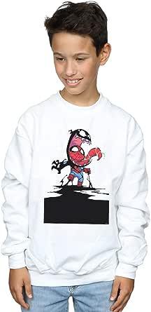 Marvel Universe Niños Spider-Man Venom Cartoon Camisa De Entrenamiento
