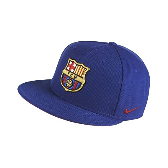 5574c8d393f Nike Mens FCB Barcelona Soccer True Core Snapback Hat Deep Royal Blue Red  686241-455  Amazon.in  Clothing   Accessories