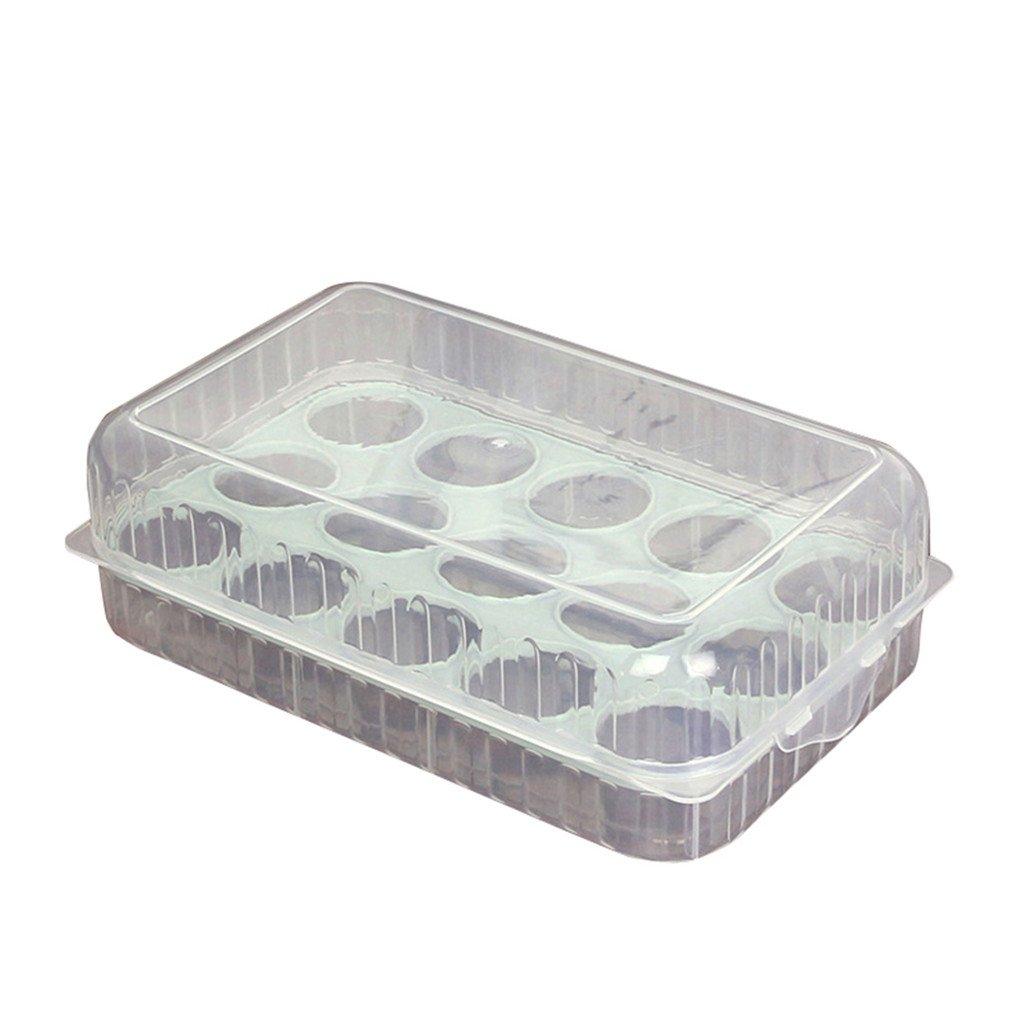 Display08 - Estuche organizador para 15 huevos de nevera azul ...