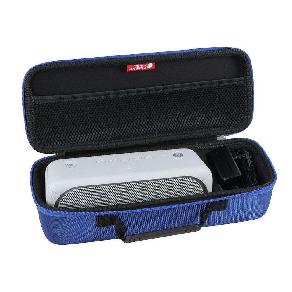 Hard EVA Travel Blue Case for Sony XB30 Portable Wireless Speaker Bluetooth (2017 model) - Fits the Wall Charger by Hermitshell