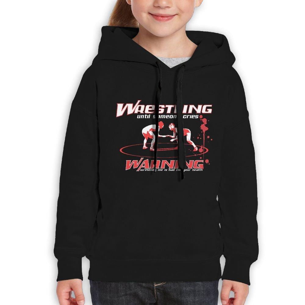 Vintopia Boy Wrestling Warning Fashion Travel Black Fleeces M by Vintopia
