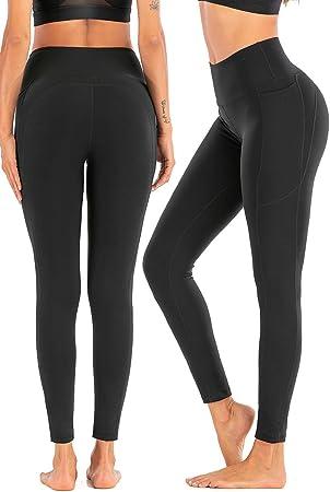 Fitness Mayas Deportivas con Bolsillos Running Estiramiento CAMBIVO Mallas de Deporte de Mujer Pantalon de Yoga Leggins Cintura Alta para Yoga Pilates
