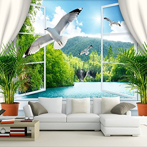 Sproud カスタムの壁画壁紙ロール 3 D の自然の風景が絹の布をリビングルームのソファの背景の家の装飾の写真壁紙 Papel De Parede 400 Cmx 280 Cm B074X9Q6N7 400cmX280cm