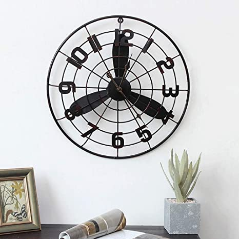 Bingws Pendule Murale Industrielle Horloge Murale Rétro De