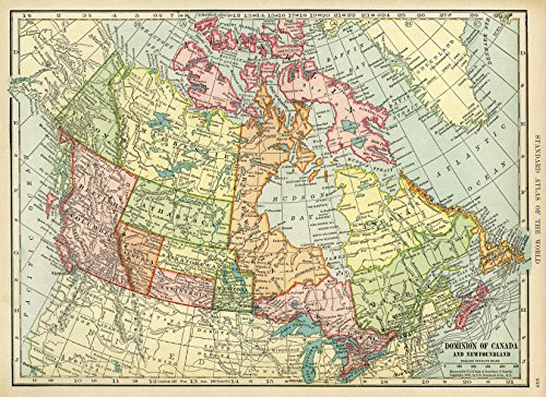 Home Comforts LAMINATED POSTER Map of Dominion of Canada and Newfoundland POSTER PRINT 24 X 36