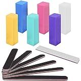 Nail File and Buffer, Wosweet Professional Manicure Tools Kit 6pcs Rectangular Art Care Buffer Block 6pcs 100/180 Grit Double