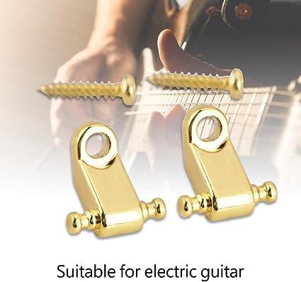 2pcs Bass Guitar String Tree Retainer mit Befestigungsschrauben für Gitarre