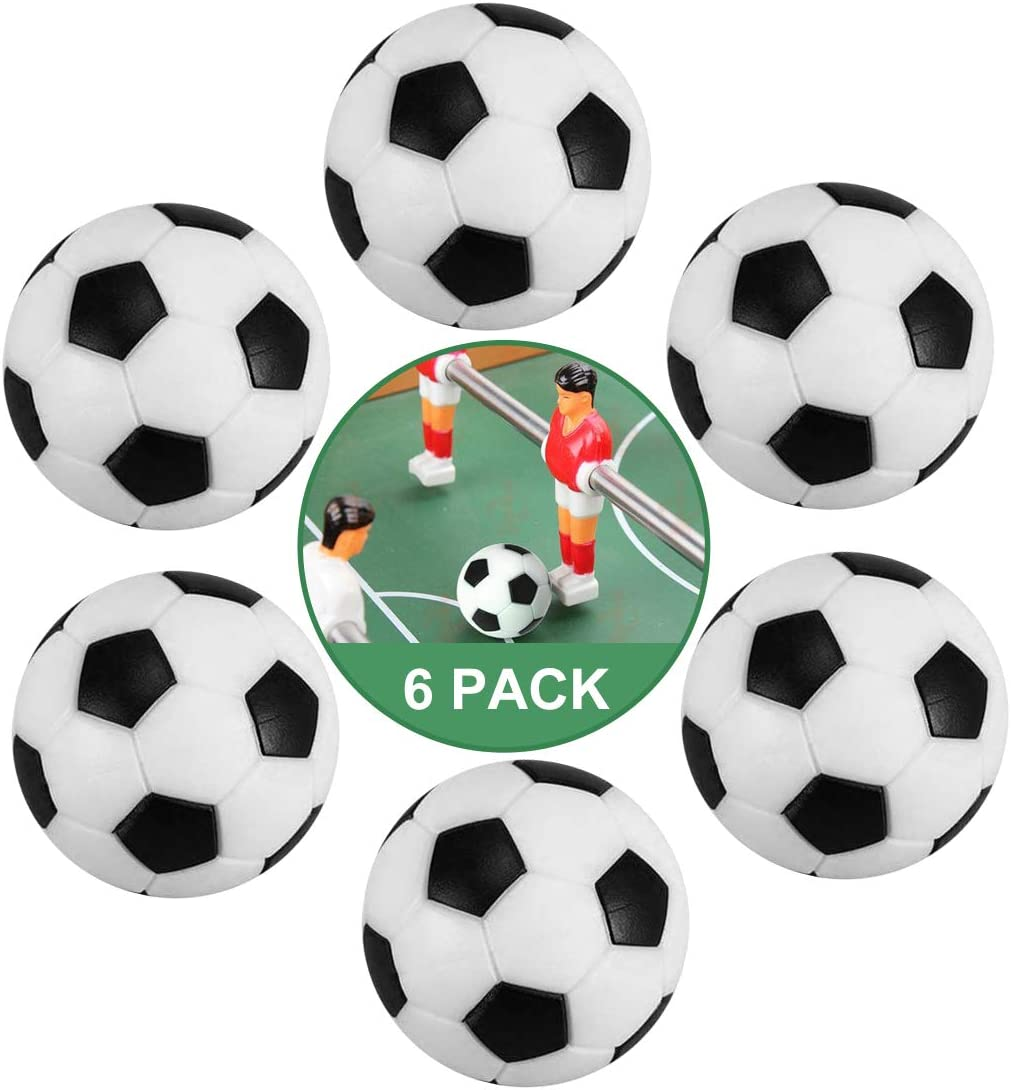 ZAWTR Pelotas Futbolin 6 Pcs, Profesional Mini Pelotas de Futbolin ...