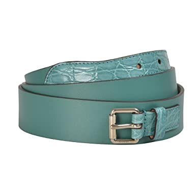 f042e0097ac Amazon.com  Gucci Men s Blue Croc Leather Belt US 34 IT 85   Clothing