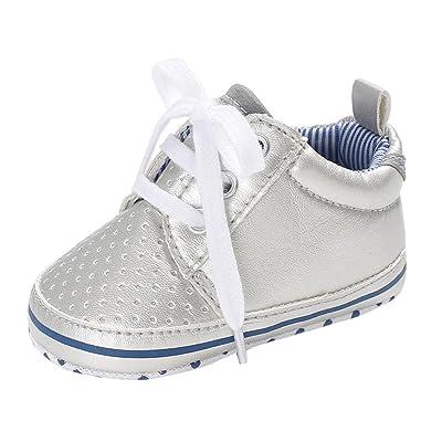 Chaussures Bébé Chaussures premiers pas en cuir Souple Unisexe Garçons Filles Longra Casual Chaussures Anti Skid Tout-petit sneaker pour Enfants Bottes Doux Confortable Pas cher