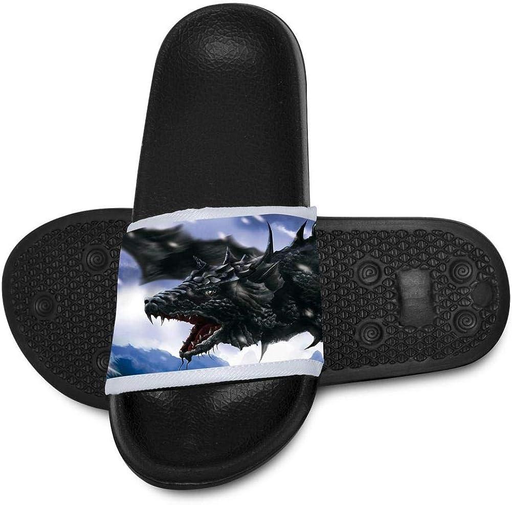Kids Summer Slipper Dragon in Snow House Slippers Shower Slide Anti-Slip Beach Pool Bath Sandals for Boys Girls