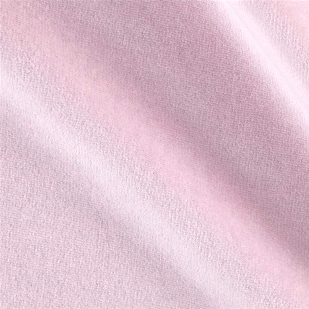 Mike Cannety Textiles Solid Velour Pink Fabric by