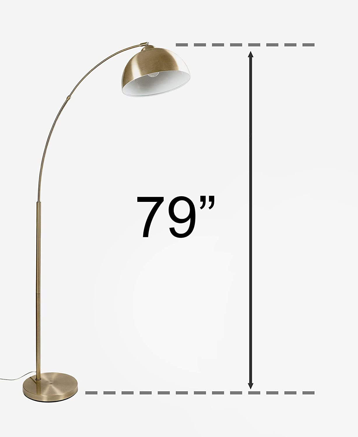 Sand Black Steel Floor Lamp with Rose Gold Shade Archioloby Venice Series 63