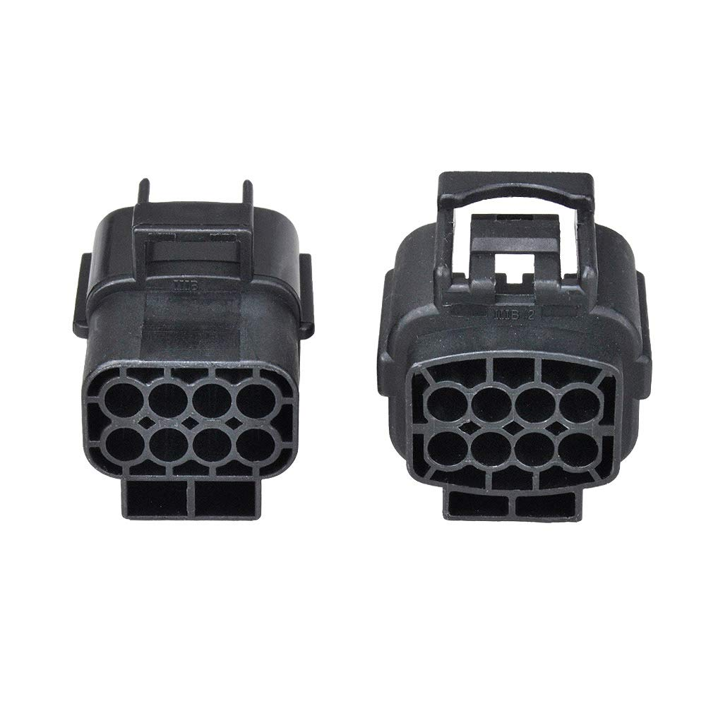 MUYI 5 sets Wire Cable Connector Plug Insert in 8-pins 1.8mm Series Waterproof Electrical kits Car HID with Terminal DJ70816Y-1.8-21/11 (8 Pins)