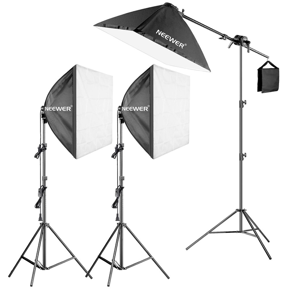 Neewer Photography Studio 600w Softbox Lighting Kit - 3...