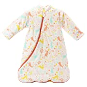 EsTong Unisex Baby Detachable Sleeves Sleepsack Cartoon Wearable Blanket Cotton Nest Nightgowns Sleeping Bag Pink Rabbit 3.5tog S/6-12 Months