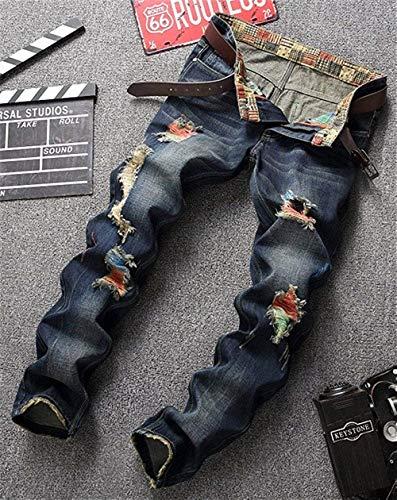 Consumati Usedlook Especial Fit Pantaloni Jeans Colour Casual Cracks Uomo Slim Vintage Da Denim Estilo Colorful nvPqfw0va