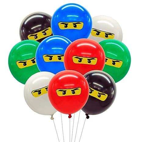 Fangleland Decoraciones de Fiesta de Globos Ninja para niños ...