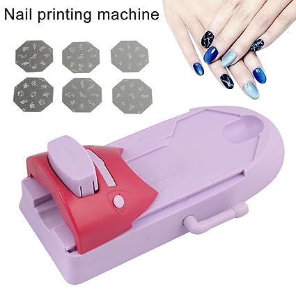symboat Nail Art impresora Set DIY diseño, diseño Stamp Máquina de ...